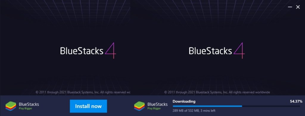 Download and Install Bluestacks for Facebook Lite app on Windows