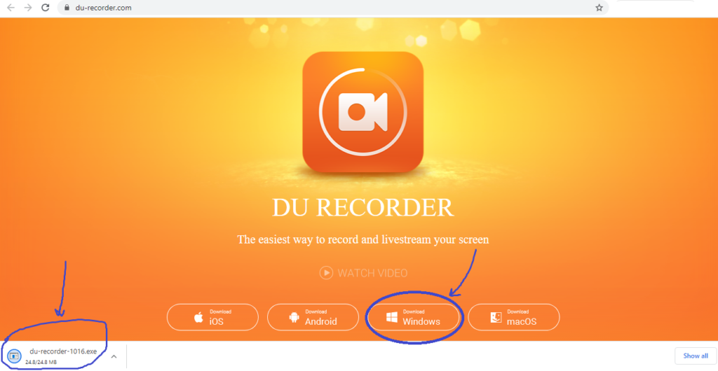Download free Du Recorder for PC windows 7/8/10 or on Mac