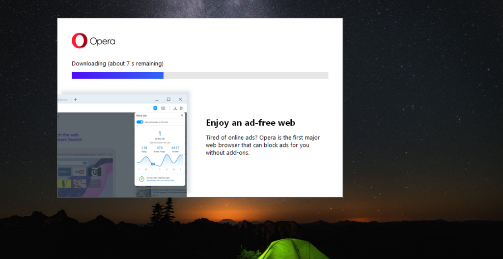 Opera Web Browser Downloading for PC windows